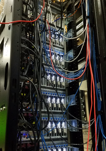 One of Euler's GPU racks